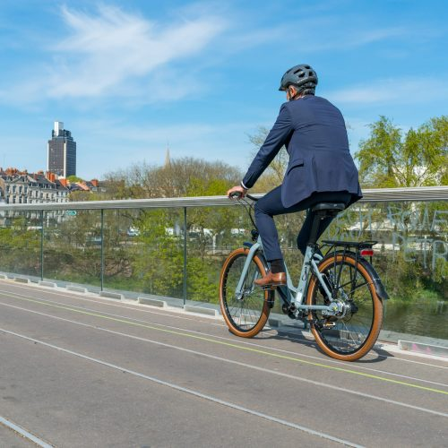 vélotafeur en action